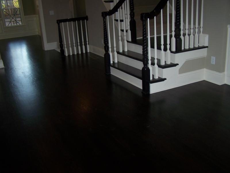 Floors stained black floors design ideas hardwood for Black hardwood flooring